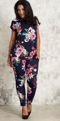 Studio Clothing - Top bluse med korte vingeærmer og strechy ensfarvet stof på ryggen