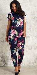 Studio Clothing - Hosen mit Smock in die Taille in hübsch blumengemustert fest Stoff