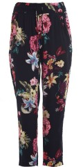Studio Clothing - Pants with smock in the waist in nice flowery hard fabric