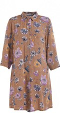 Studio Clothing - Long big shirt in nice flowery hard fabric