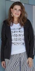 Zhenzi - T-shirt med smart tryck och v-hals