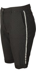 Zhenzi - Step pants shorts in power stretch with white dots and silver galons in the sides