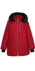 Zhenzi - Nice fleece jacket with fake fur in the hood and long ribs with hole to thumb