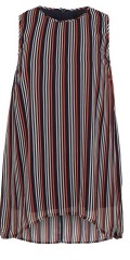 Adia Fashion - Tunica with nice stripes in chiffon with hard lining