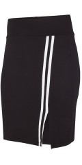 Adia Fashion - Skirt with wide rubber band in the waist and smart sports stripes in the side