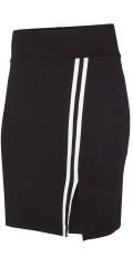 Adia Fashion - Skjørt med vid strikk i taljen og smart sports striper i siden