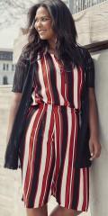 Adia Fashion - Shorts in frische Streifen und Elastik in die Taille auf dem Rücken