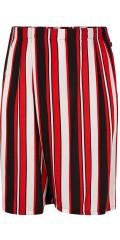 Adia Fashion - Shorts i friske striper og strikk i taljen på ryggen