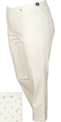 Robell - Bella capri pants with silver dots and rubber band in whole the waist also 2 back pockets