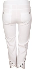 Robell - Ankle pants model rose in strechy quality bengalin with wide rubber band in the waist