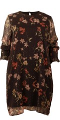 Cassiopeia - Julandra dress in nice printed chiffon with mica and smock in the sleeves