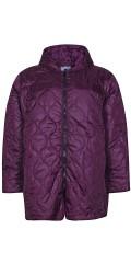 Zhenzi - Läcker lätt täcke jacka med foder och hätta och smart stickningar