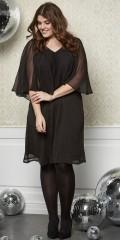 Zhenzi - Söt chiffon klänning med sys slag och vacker spets bakom