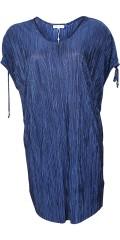 Zhenzi - Tunika klänning i plisse med v-hals och rynka över axlorna