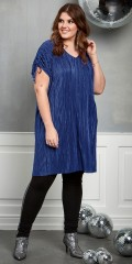 Zhenzi - Tunica dress in pleat with v cutting and wrinkle over the shoulders