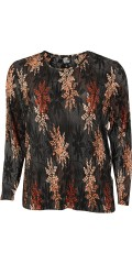 AnyWay - Pleat blouse in super nice print with round neck