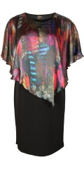 Kirsten Krog Design - Nice dress with sewn shawl/poncho top