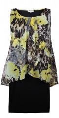 Zhenzi - Lækker to-lags chiffon kjole med korte ærmer