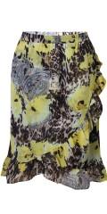 Zhenzi - Söt wrap slå om kjol med sys klänning och gummiband i linningen
