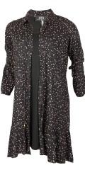 Zoey - Penny dot dress gjennomknappet kjole i hard stoff med ruffle
