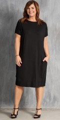 Gozzip - Dress with wing sleeves, 2 pockets and smart v in the neck