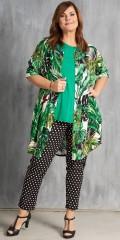 Gozzip - Gjennomknappet skjorte tunika med korte ermer og 2 lommer