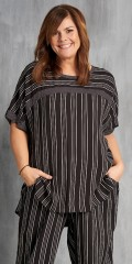 Gozzip - Blouse with short sleeves and good width