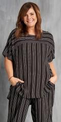 Gozzip - Bluse med korte ærmer og god vidde