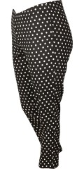 Gozzip - 7/8 ankle pants with rubber band in whole the waist and with white dots