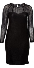 Zoey - Beautiful lurex dress with lace sleeves and back