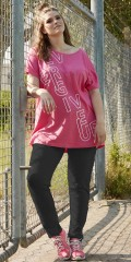 Zhenzi - Nice cotton t-shirt with short wing sleeve in fitness series