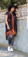 Zoey - Phillippe tunic lett gjennomsiktig med flott mønster
