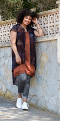 Zoey - Phillippe tunic lätt gjenomskinlig med vacker mönster