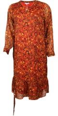 Zhenzi - Långärmad maxi klänning med volang