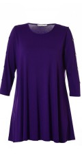 Studio Clothing - Tunica with 3/4 sleeves and round neck in a-shaped and stretch material.