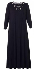 Studio Clothing - Long dress with nice line in the neck. the dress is in strechy material
