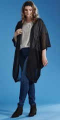 Zhenzi - Nice all-buttoned chiffon kimono with nice v cutting in the neck