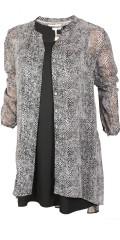 Cassiopeia - Gabriella skjorta klänning i även om chiffon med  dyreavtryck