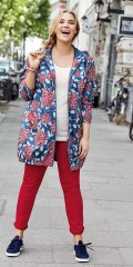 CISO - Parka coat with print, nice spring jacket in floral print