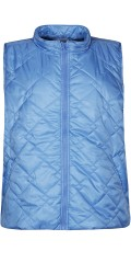 Zhenzi - Nice zipped-through quilt vest with 2 sloping pockets