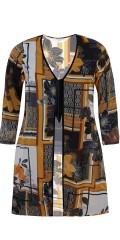 Zhenzi - Kimono l/s, crepe chiffon