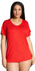 Sandgaard - T-shirt med kort vingeerme og v-hals