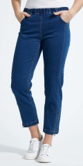LauRie - Piper regular cropped jeans, med beltestropper og 4 lommer