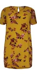 ONLY Carmakoma - Smart blomstret tunica kjole med kort ærme