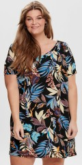 ONLY Carmakoma - Smart flowery tunica dress with short sleeve