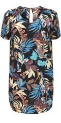 ONLY Carmakoma - Smart blumengemustert Tunika Kleid mit kurz Ärmel