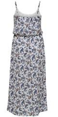 ONLY Carmakoma - Lux lång klänning med tunna justerbar band och gummiband i sköte