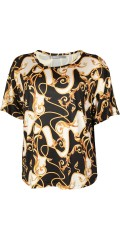 Cassiopeia - Martha strechy blouse with smart print