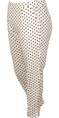 Studio Clothing - Dotted leggings in light strækbart material with zipper in the side