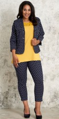 Studio Clothing - Dot blazer in light strækbart material with slits in the sleeve and pockets with little zipper